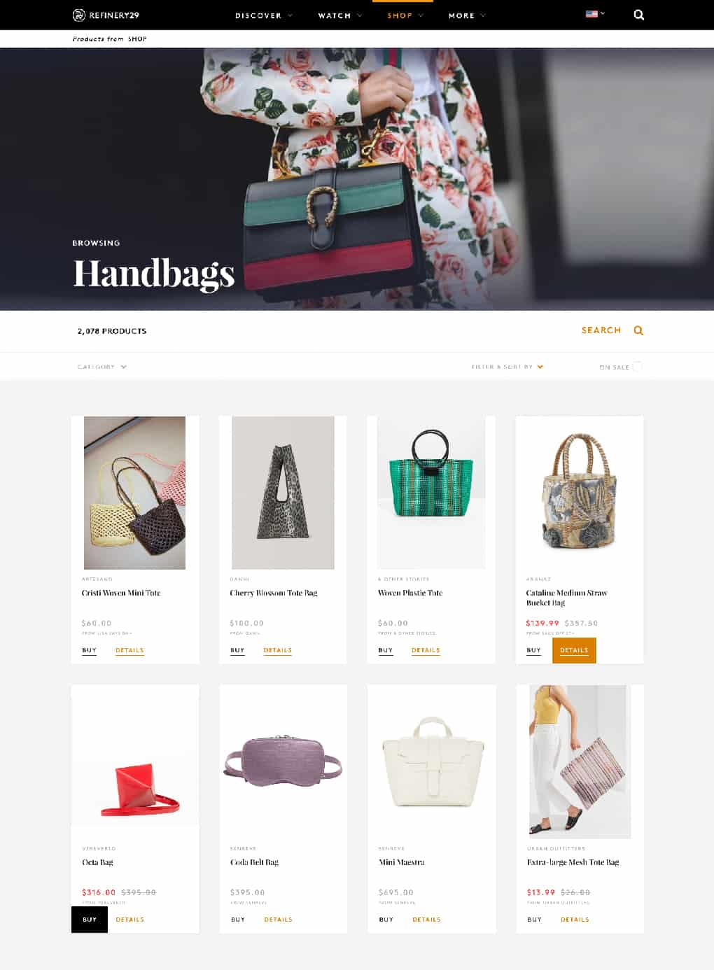 Handbags on Refinery 29
