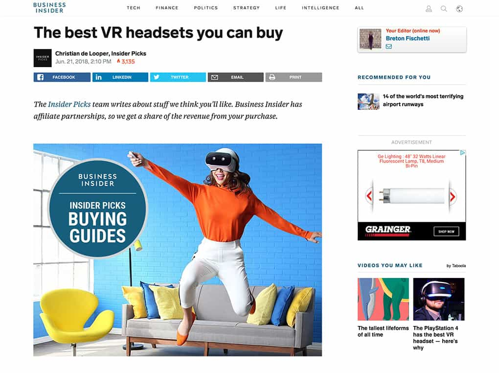 The best VR headsets you can buy on Business Insider