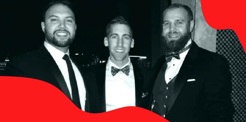 Kevin Barthe, Drew Frank, and Nick Matlack