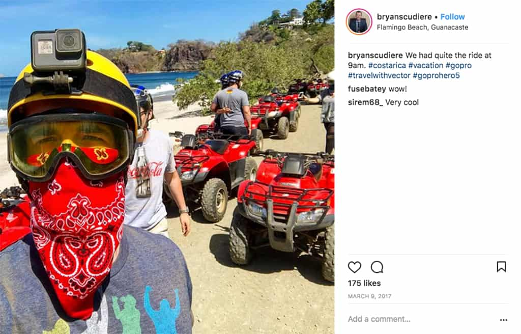 Costa Rica four wheeling during Vector travel