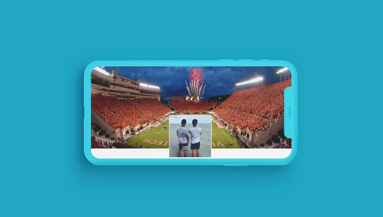 Facebook cover football stadium