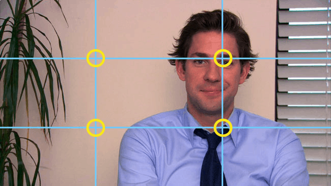 rule of thirds example with John Krasinski playing Jim Halpert from The Office