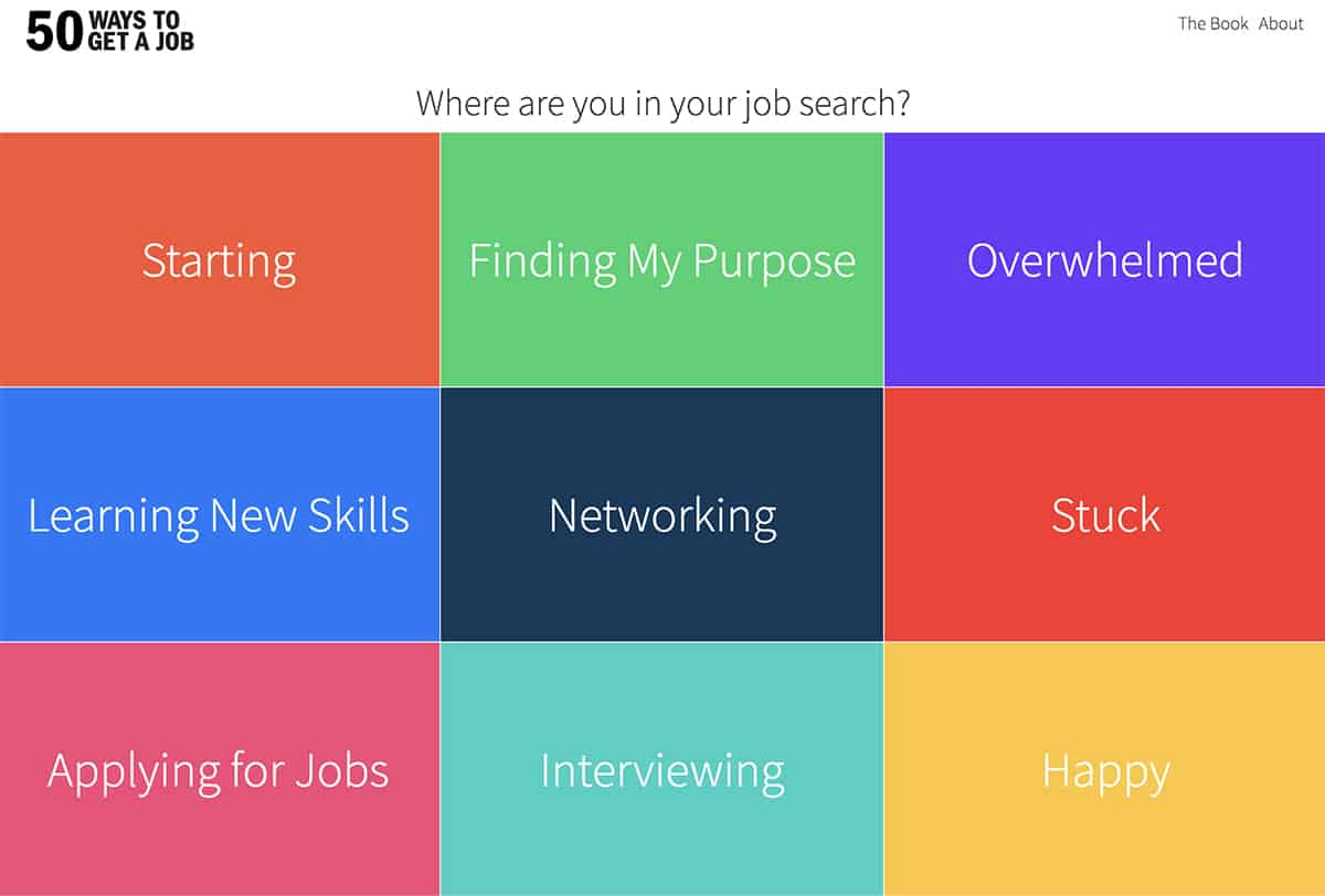 50 Ways to Get a Job website