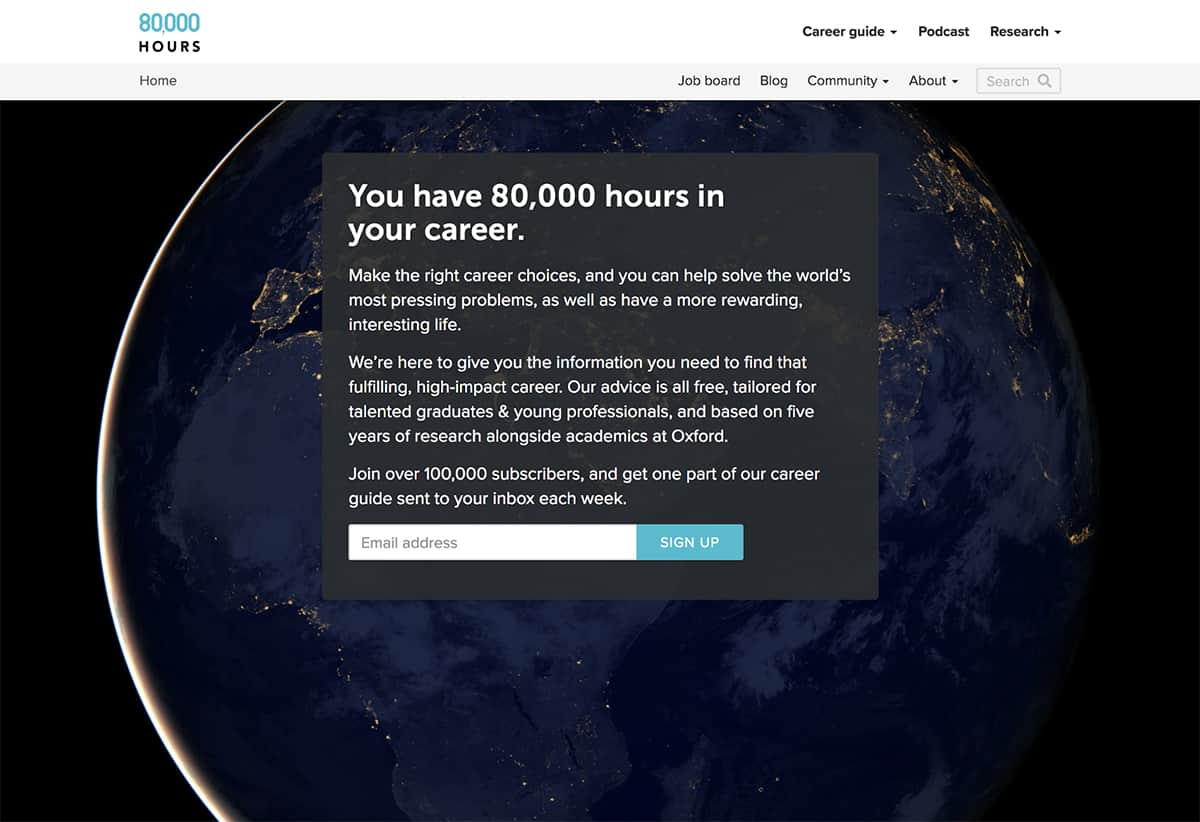 80,000 Hours website