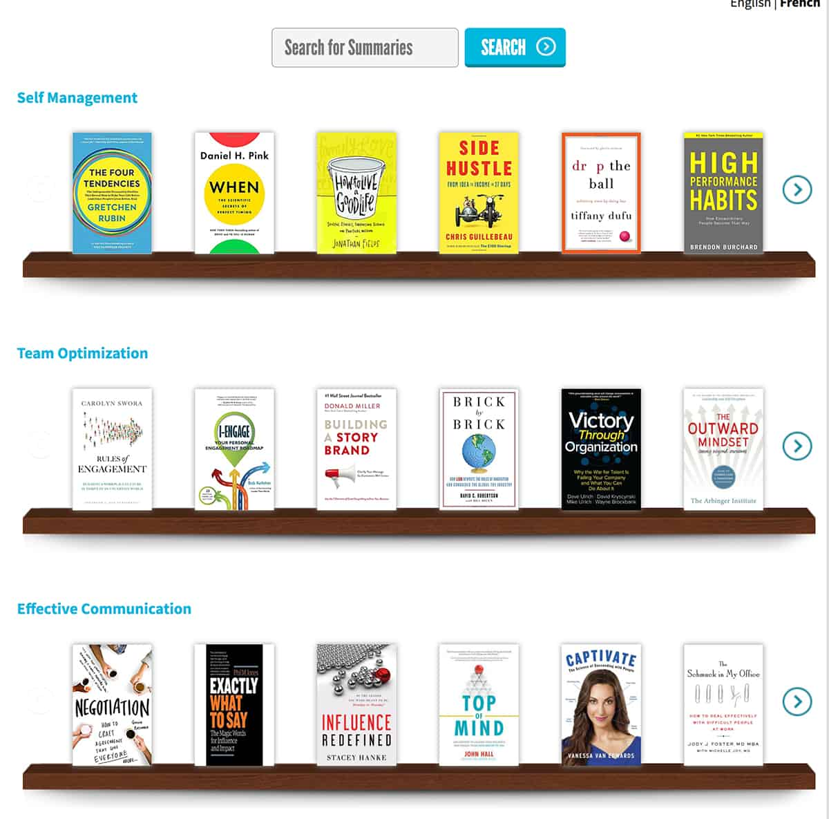 Actionable Books website
