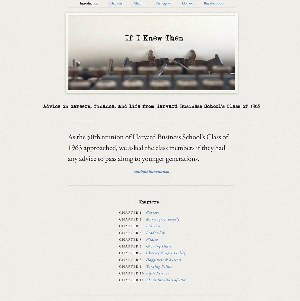 If I Knew Then website