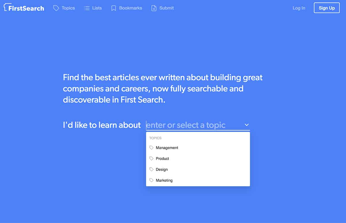 FirstSearch website