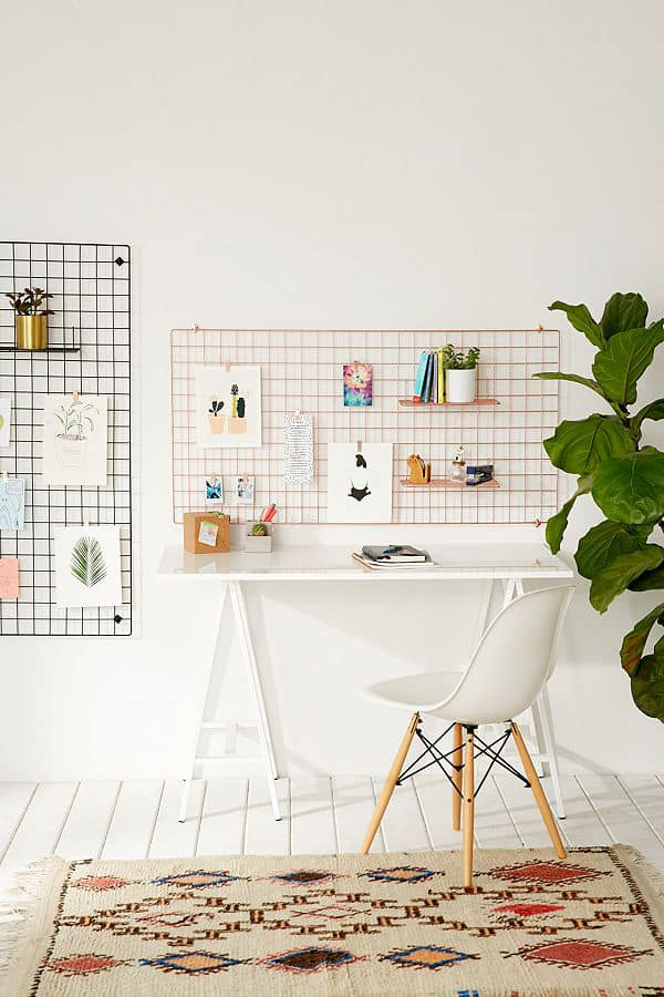 wire frame with shelves