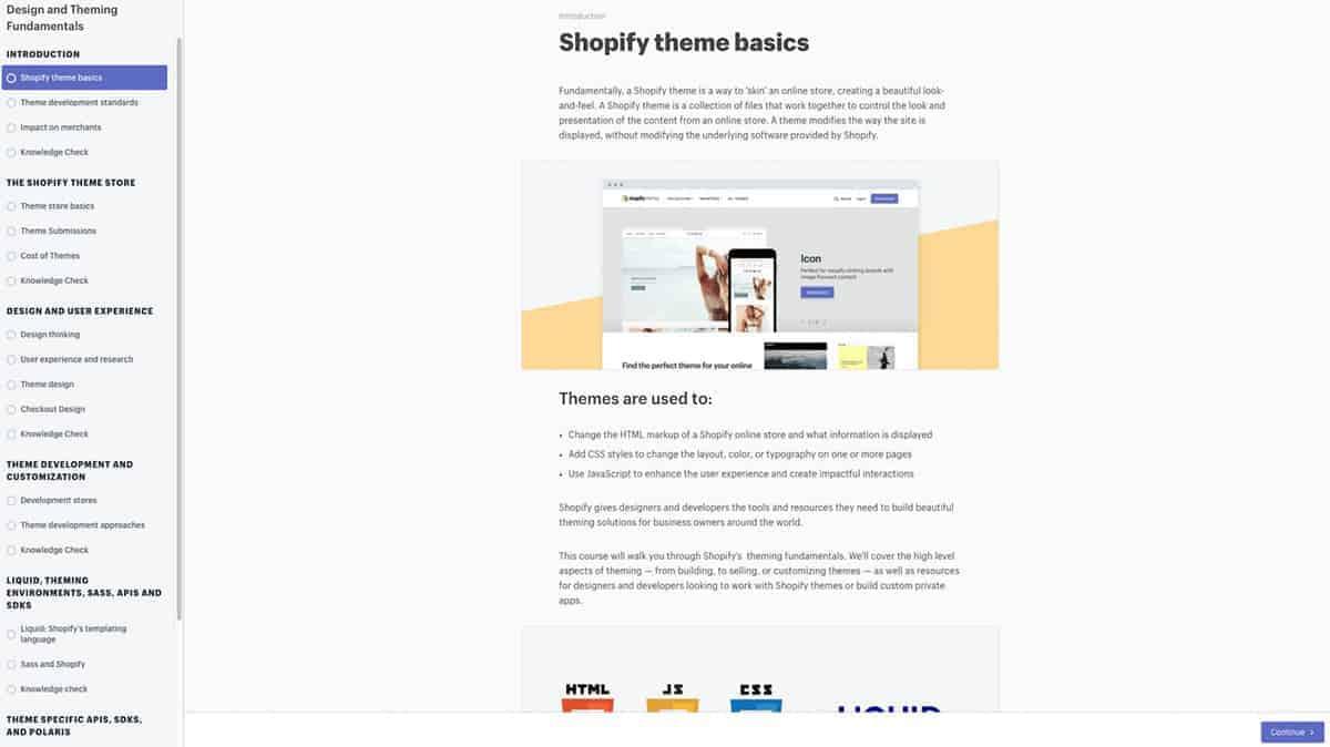 Shopify theme basics