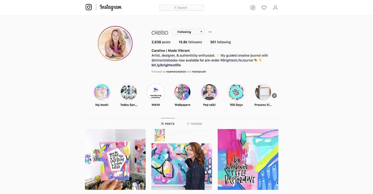 Caroline Kelso Zook's Instagram