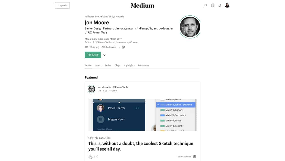 Jon Moore's Medium profile