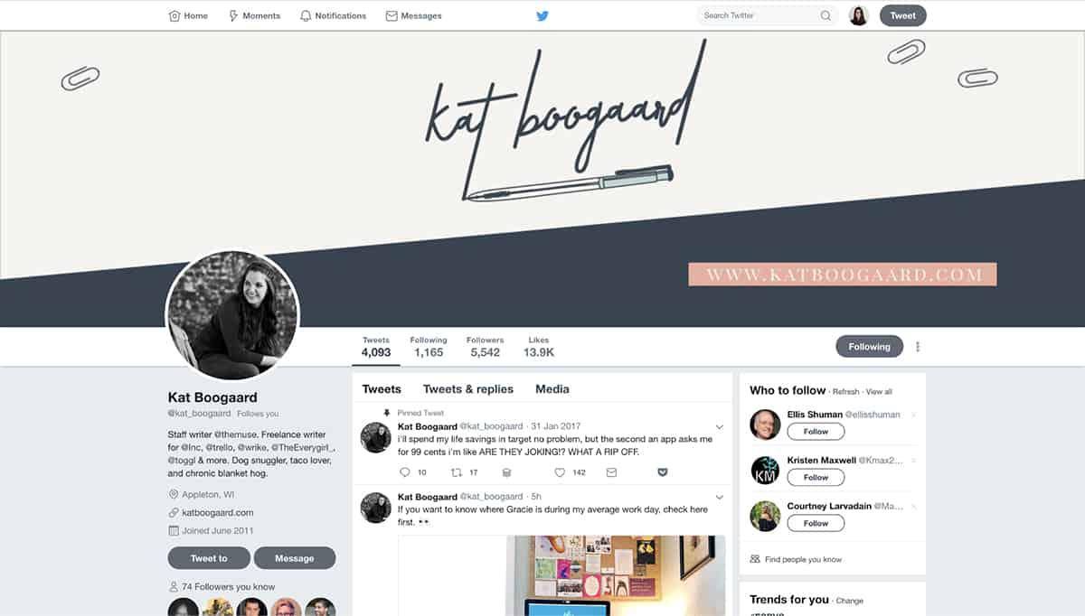 Kat Boogaard's Twitter