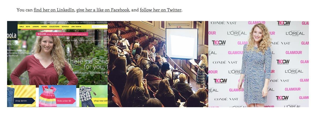 Lily Herman on social media