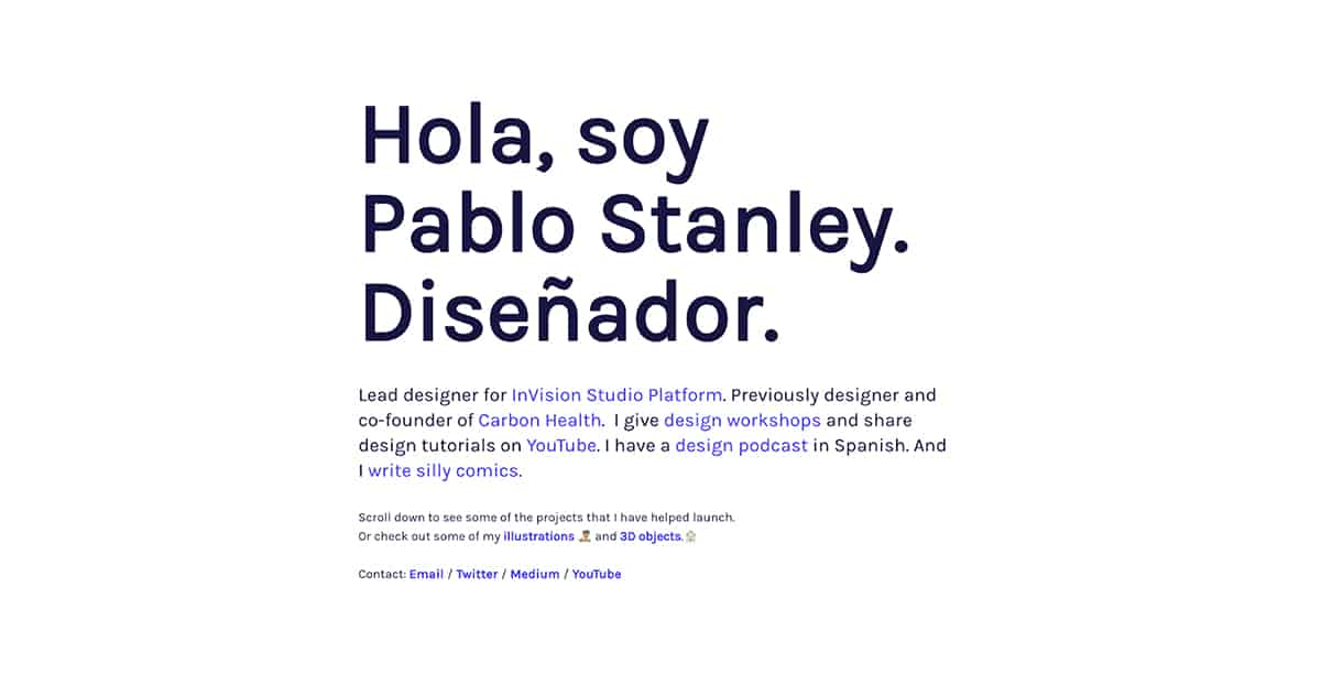 Pablo Stanley's website