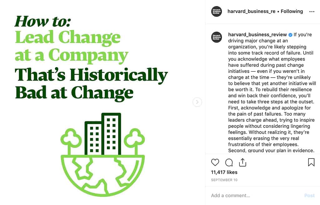 How to Lead Change at a Company That's Historically Bad at Change posted by harvard_business_review on Instagram