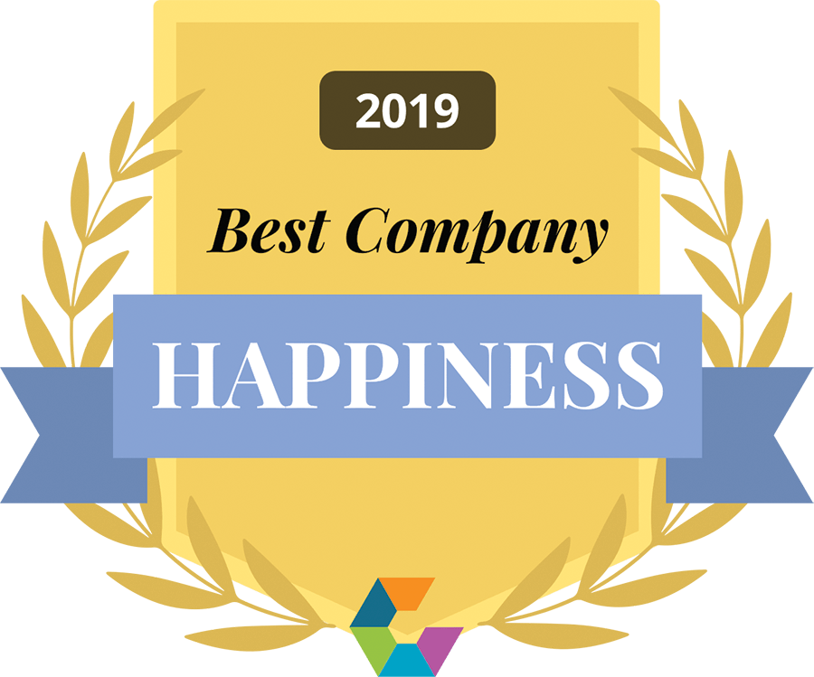 best company for happiness 2019 Comparably award