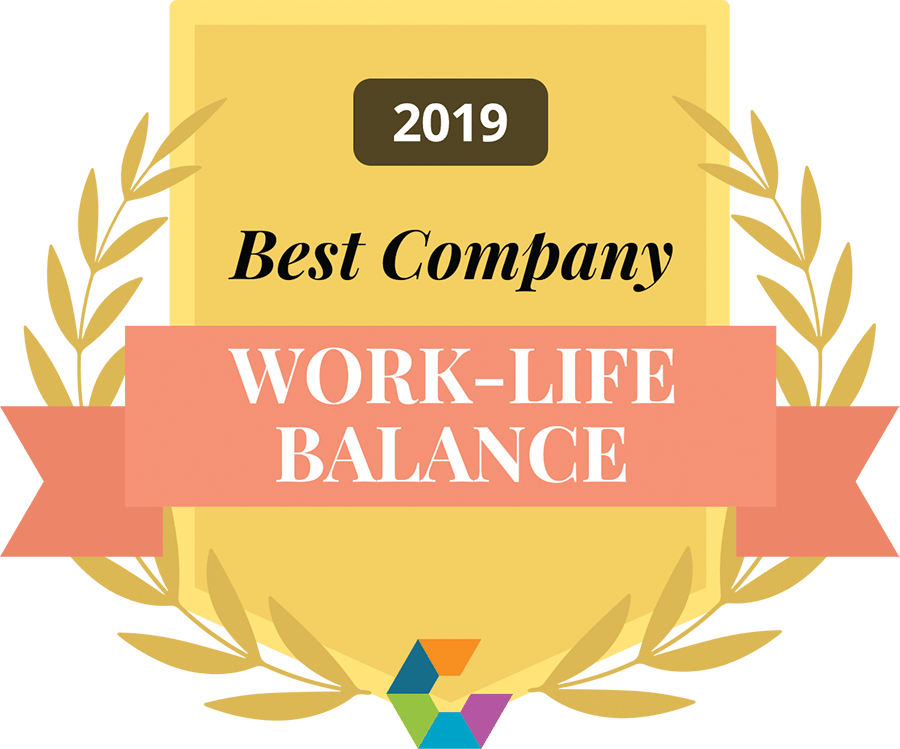 work-life balance 2019 Comparably award