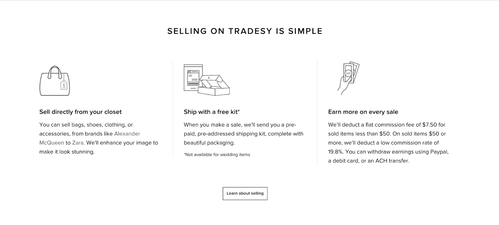 how to sell on tradesy