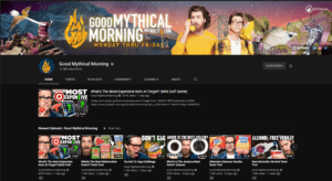 Good Mythical Morning YouTube page