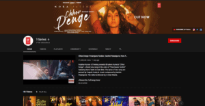 T-series YouTube page