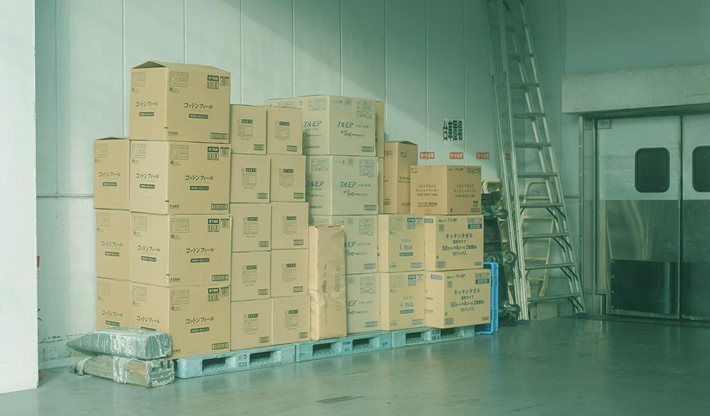 moving boxes in a warehouse