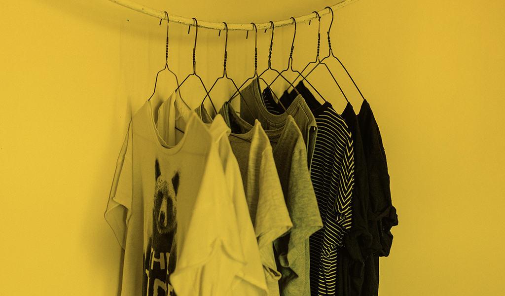 shirts hanging on hangers