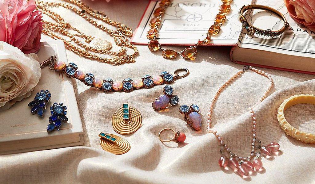 vintage neclaces, earrings, and bracelets