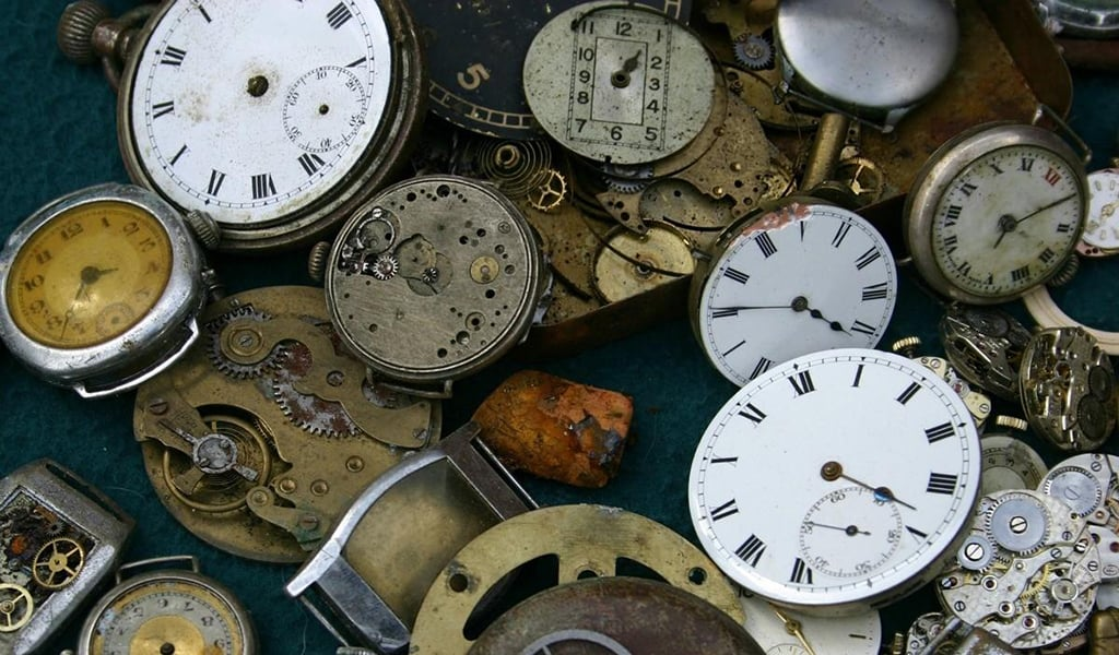 old watches, many different styles