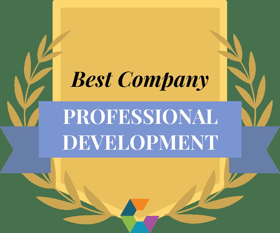 """Best Company for Professional Development"" badge"