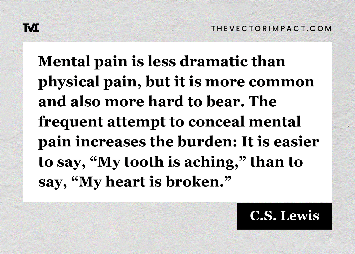 C.S. Lewis quote about depression graphic