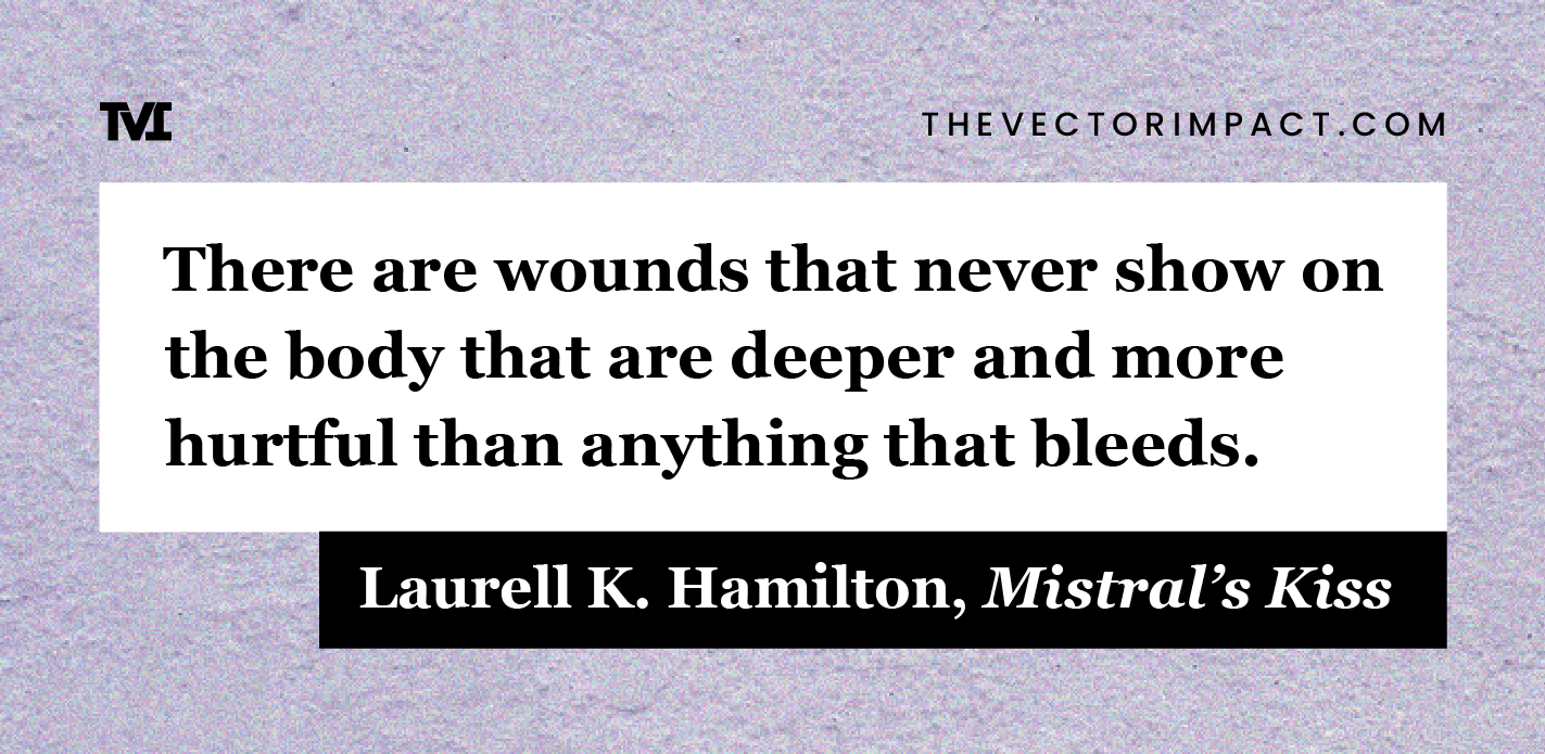 Laurell K. Hamilton, Mistral's Kiss, quote about depression graphic