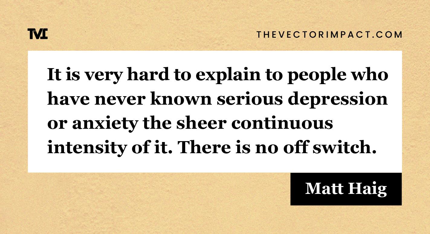 Matt Haig quote about depression graphic