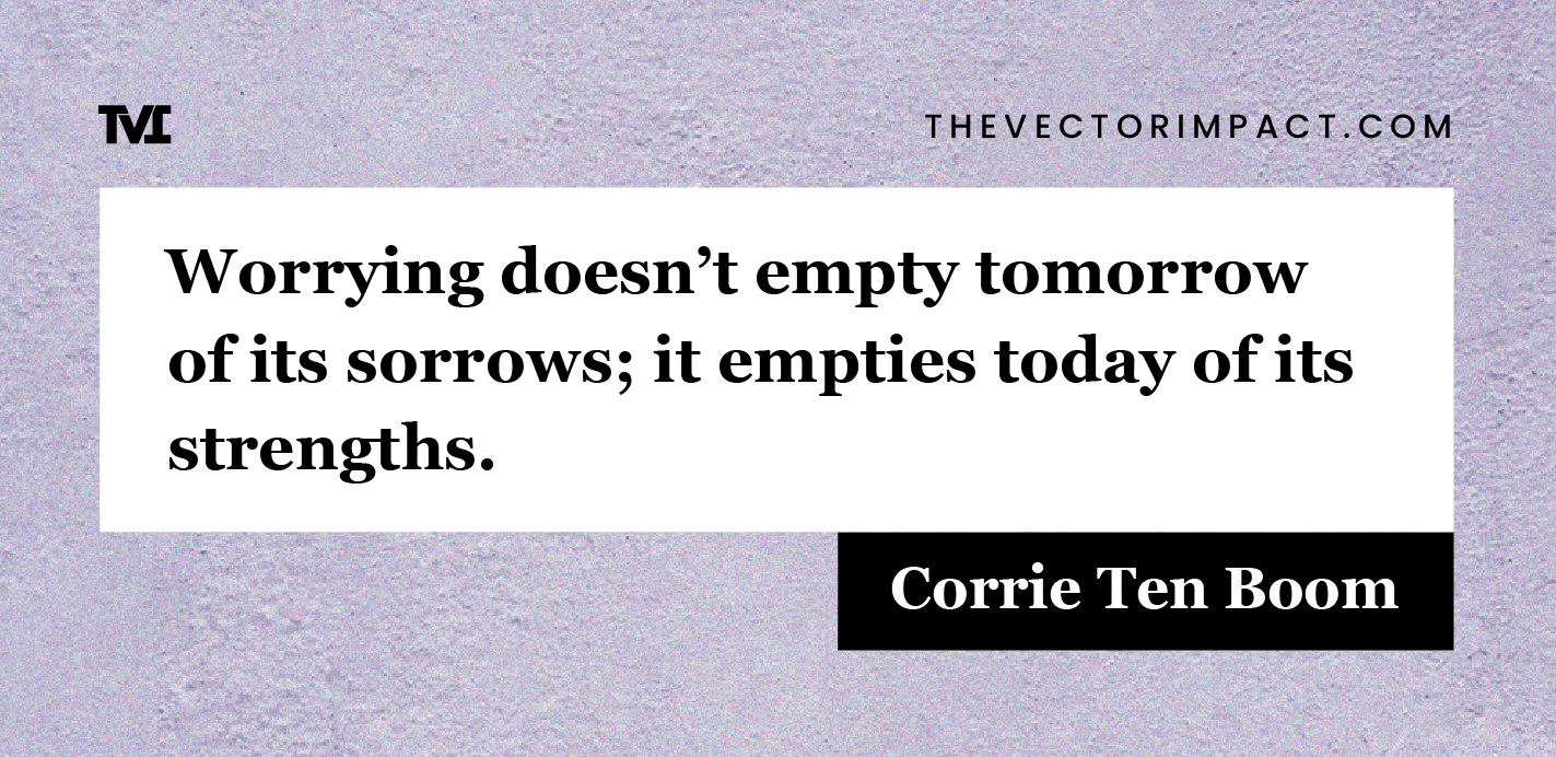 Corrie Ten Boom quote about depression graphic