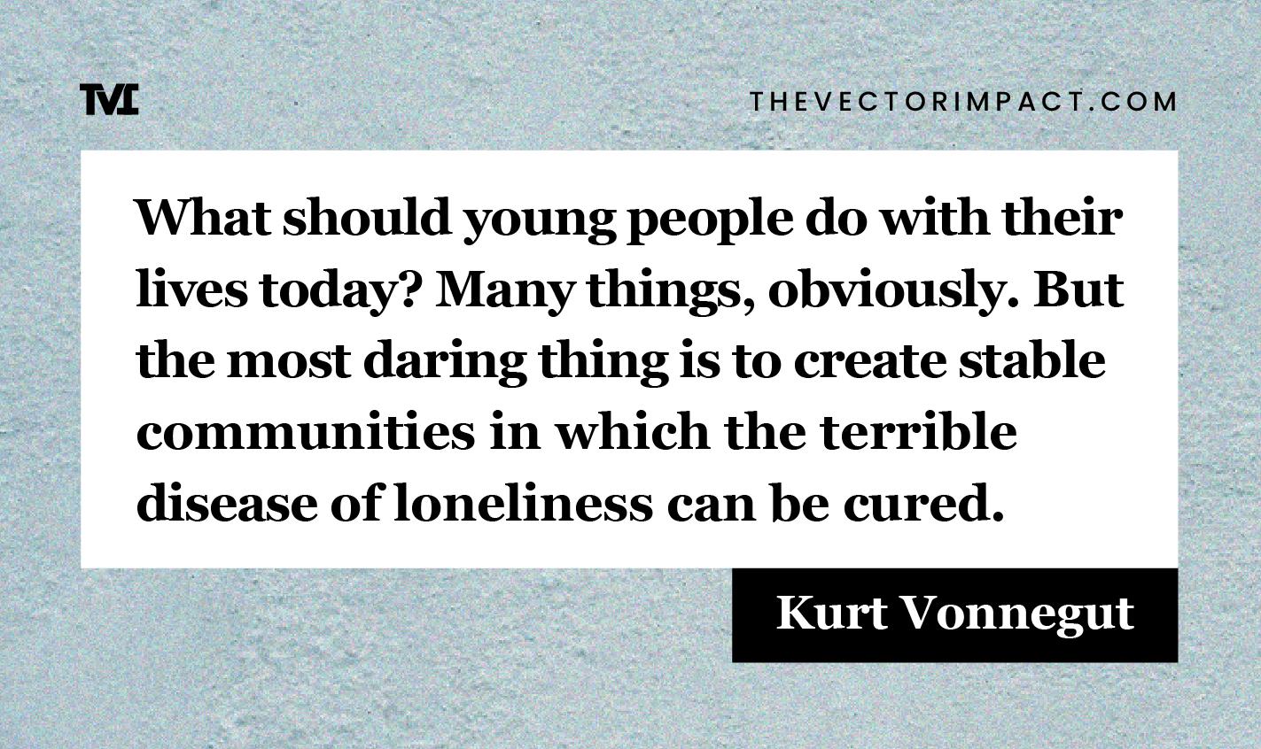 Kurt Vonnegut quote about depression graphic