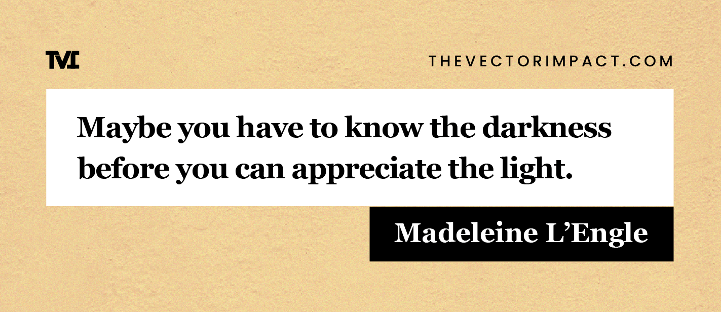 Madeleine L'Engle quote about depression graphic