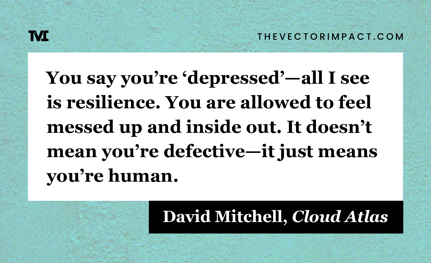David Mitchell, Cloud Atlas, quote about depression graphic