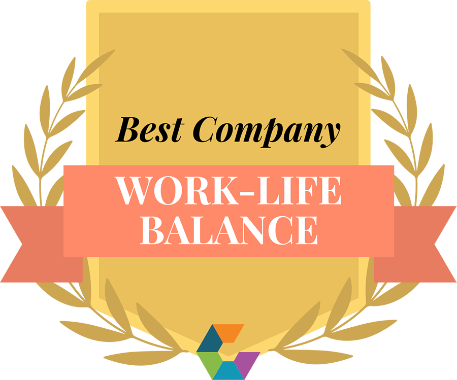"""Best Company: Work-Life Balance"" badge"