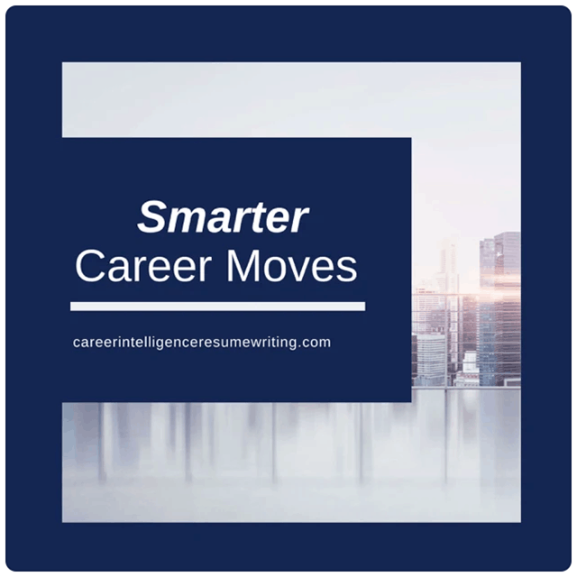 Smarter Career Moves, cityscape in background