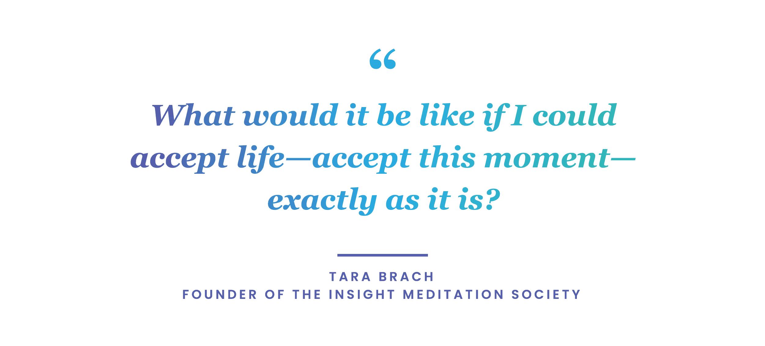 mindfulness quote by Tara Brach