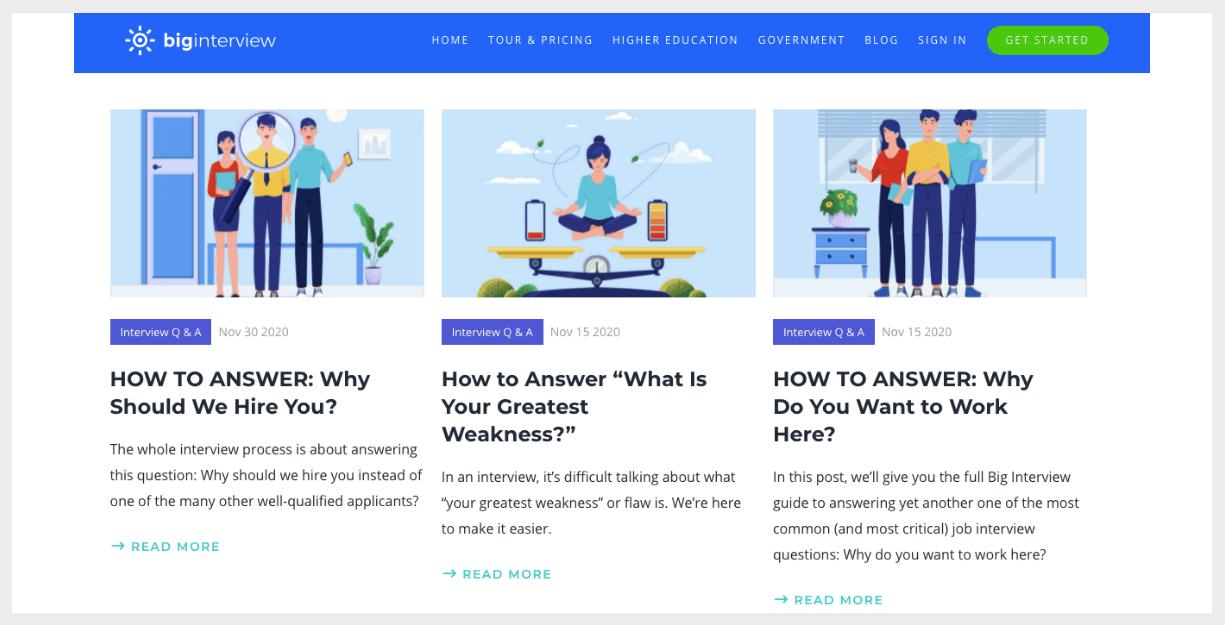 big interview website