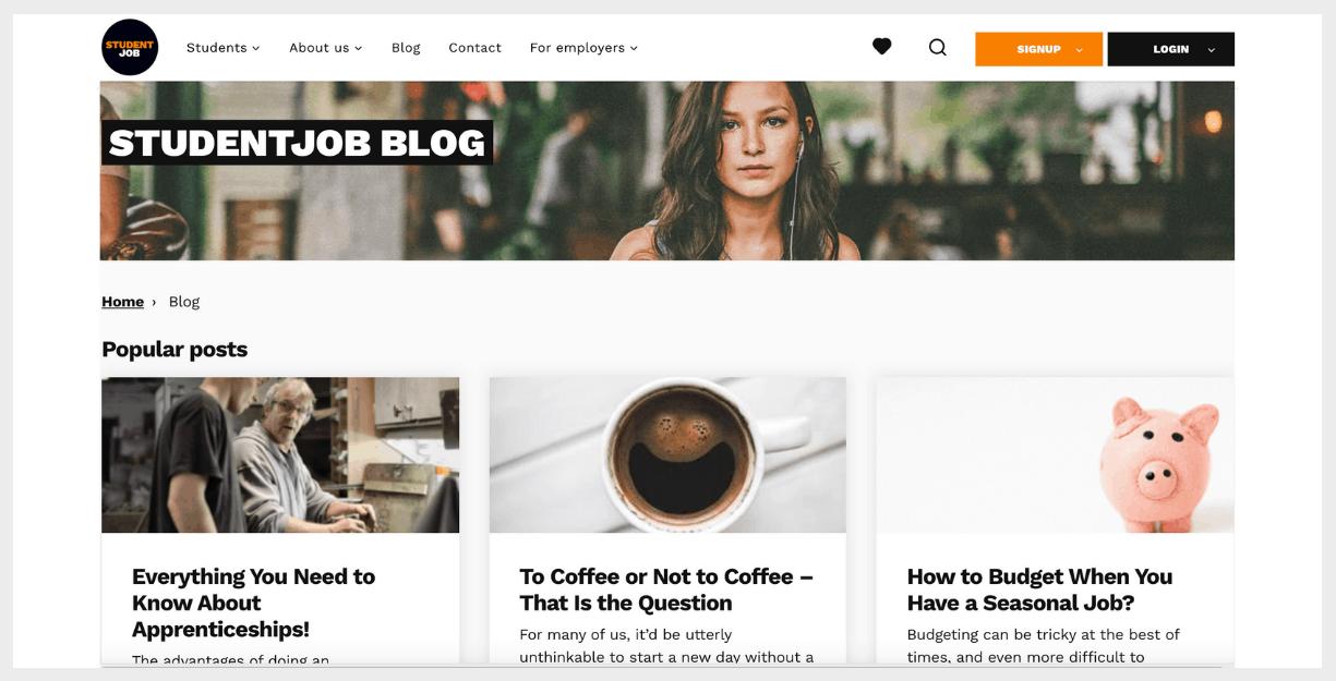 student job website