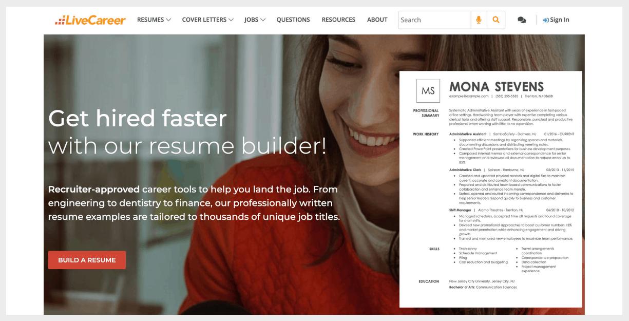 live career website