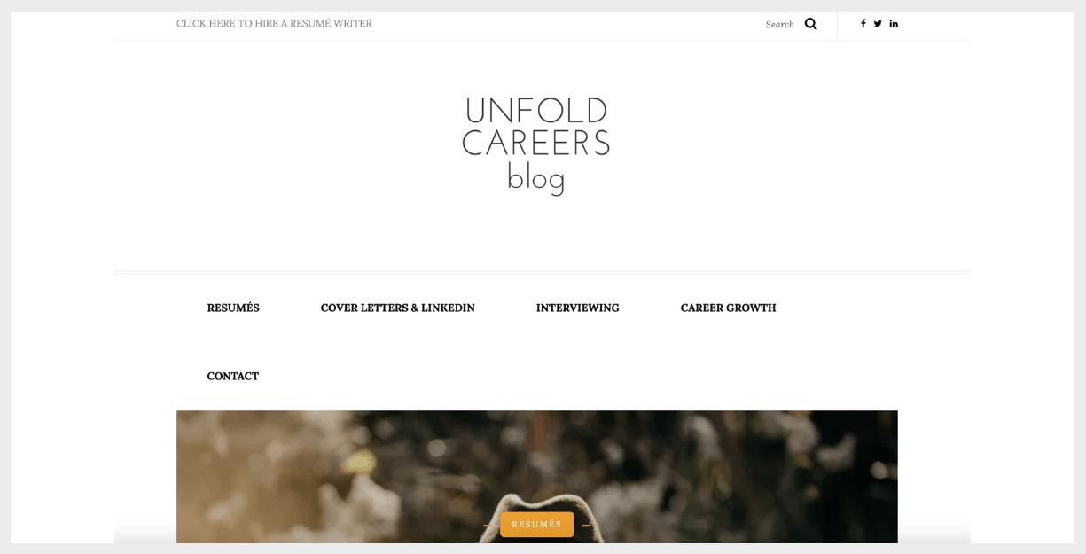 unfold careers website
