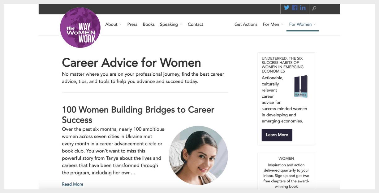 the way women work website