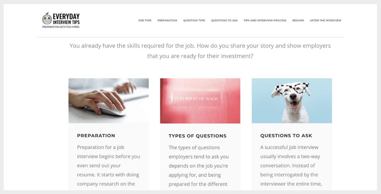 everyday interview tips website