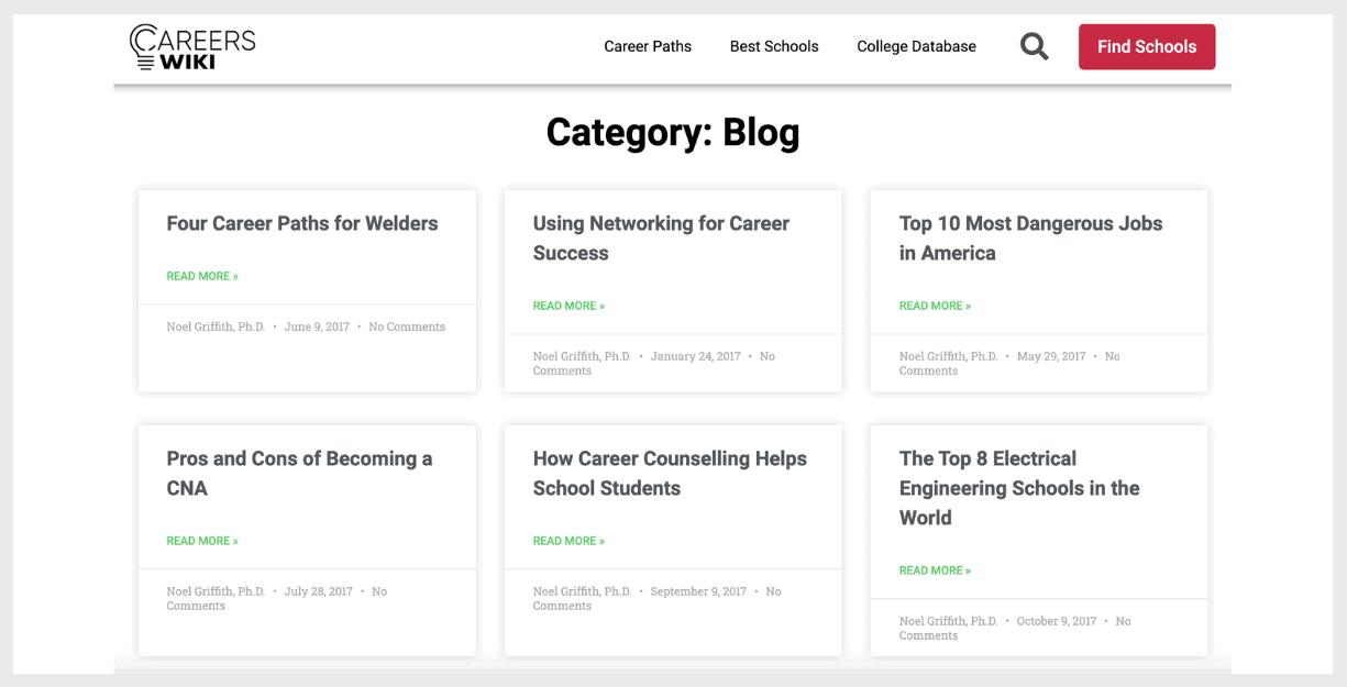 careers wiki website