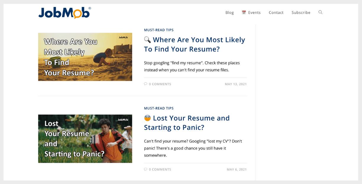 jobmob website