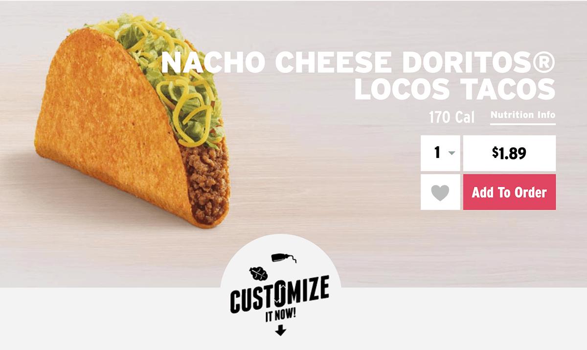 The Nacho Cheese Doritos Locos Tacos
