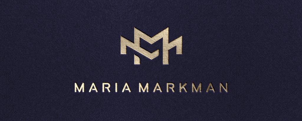 personal brand logo for maria markman, project designer