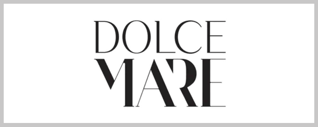 personal brand logo for dolce mare, homemade food enthusiast